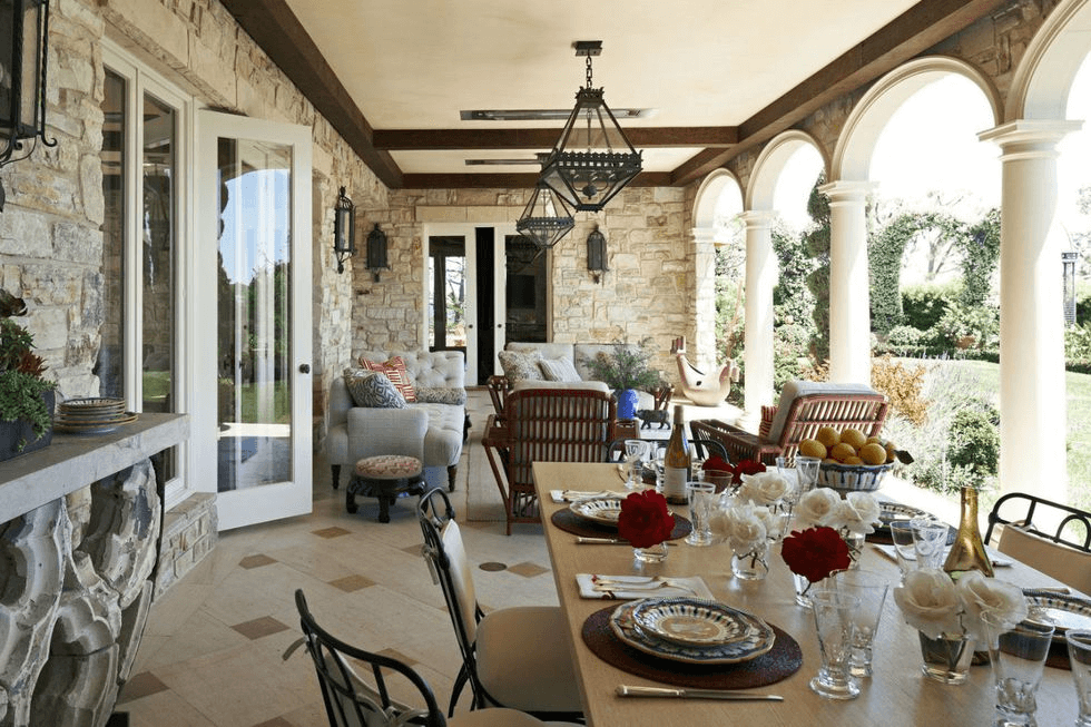 BACKYARD PORCH IDEAS WITH DINING AREA