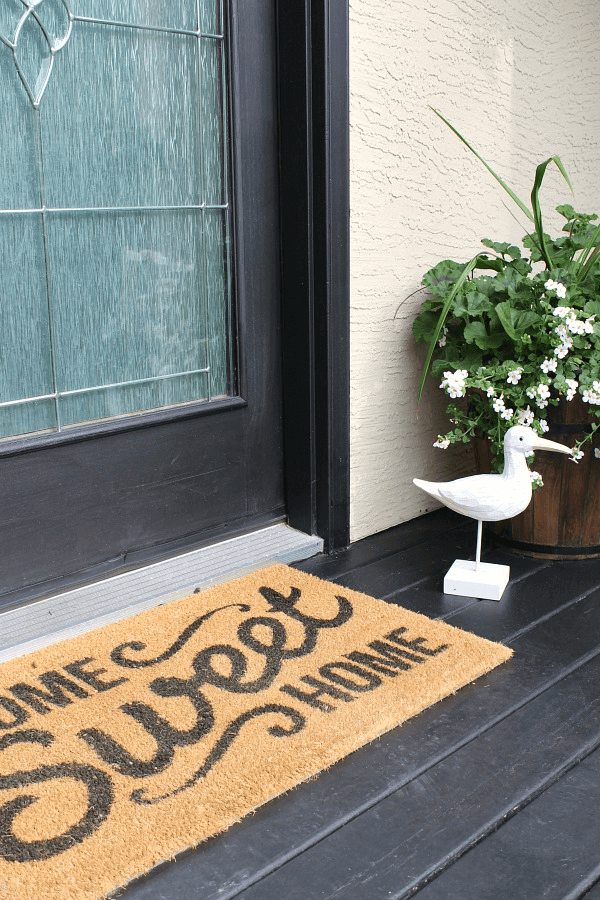 DOORMAT WELCOME SIGN FRONT PORCH DECORATING IDEAS FOR SUMMER