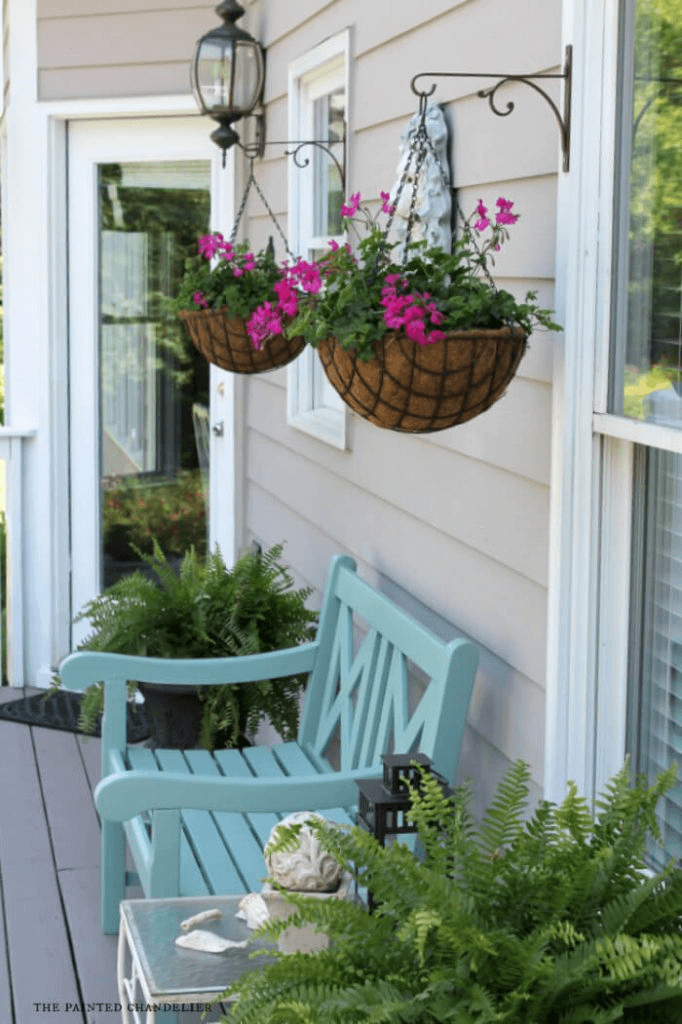 FLOWER DECOR IDEAS FOR FRONT PORCH SUMMER