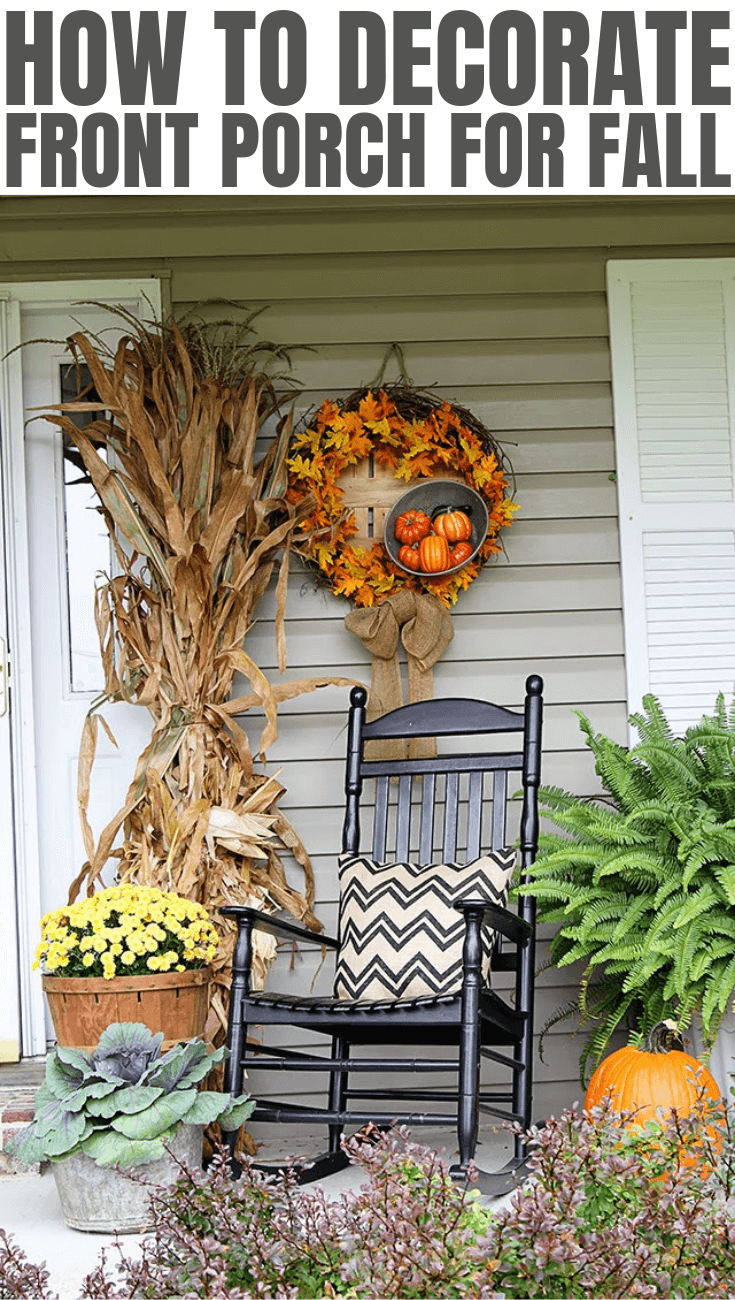 HOW TO DECORATE FRONT PORCH FOR FALL