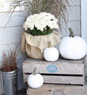 MONOCHROME FRONT PORCH DECORATING IDEAS FOR FALL
