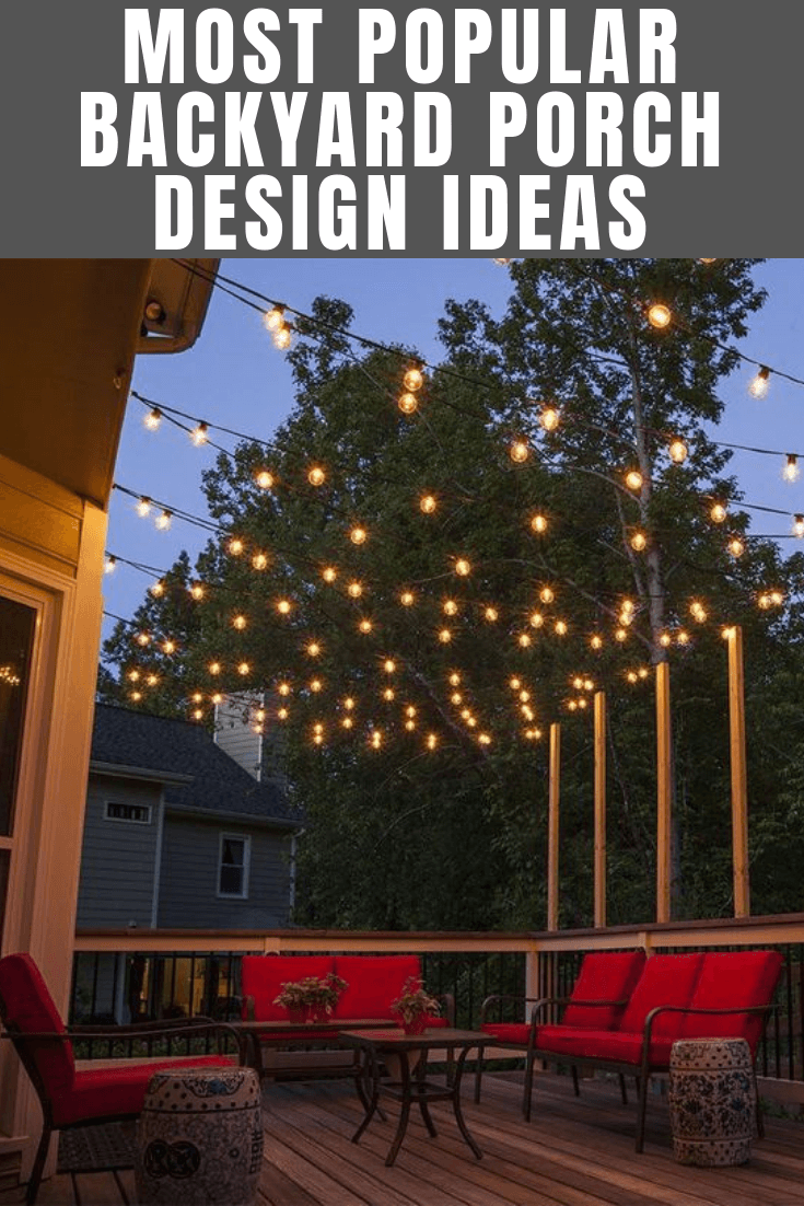 MOST POPULAR BACKYARD PORCH DESIGN IDEAS