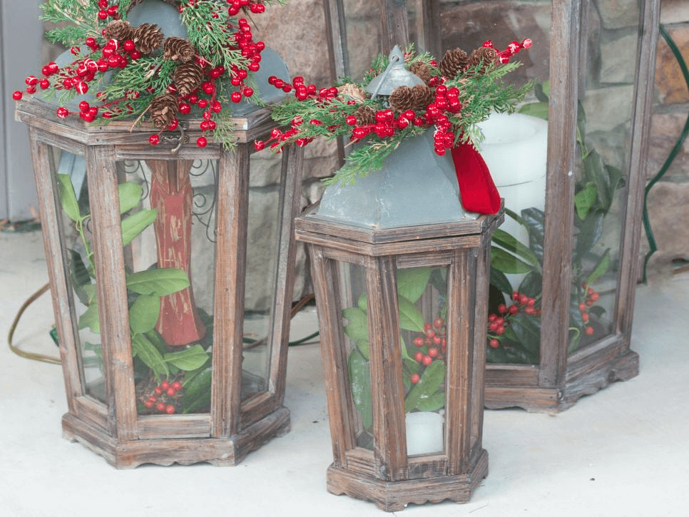 OLD LANTERN DECOR IDEAS FOR RUSTIC FRONT PORCH