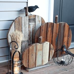 RECLAIMED WOOD PUMPKINS RUSTIC DIY FOR FRONT PORCH DECOR IDEAS