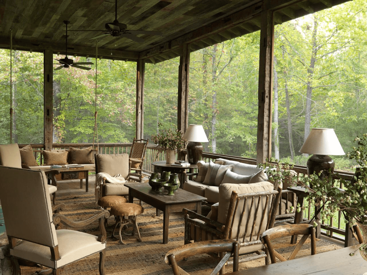RUSTIC BACKYARD PORCH IDEAS