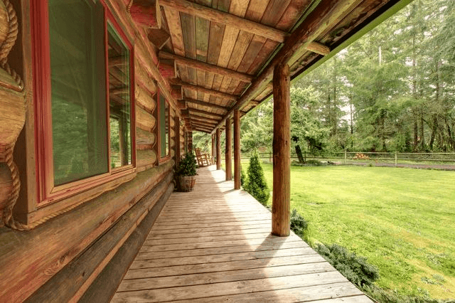 THE LONG GRAINED PORCH DESIGNS FOR RANCH STYLE HOMES