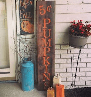 VINTAGE FRONT PORCH DECOR IDEAS WITH PLANK