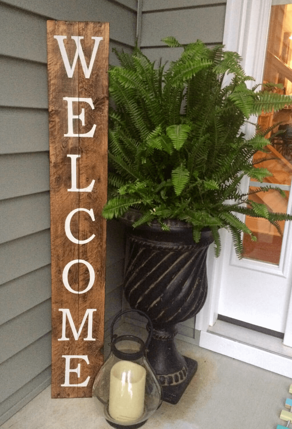WOODEN WELCOME SIGN DIY RUSTIC FOR FRONT PORCH DECOR IDEAS
