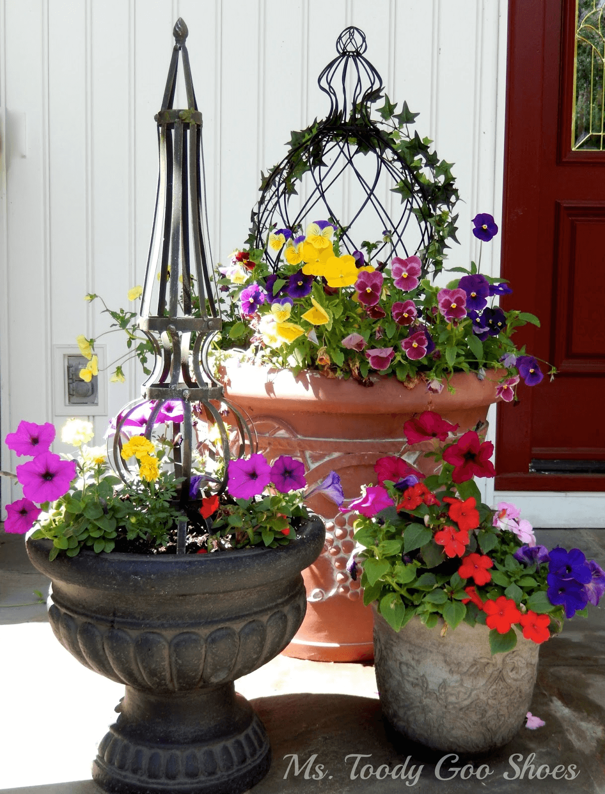 AWESOME IDEAS WITH COLORFUL GERANIUM FOR PORCH DECORATION. HOW TO DO IT