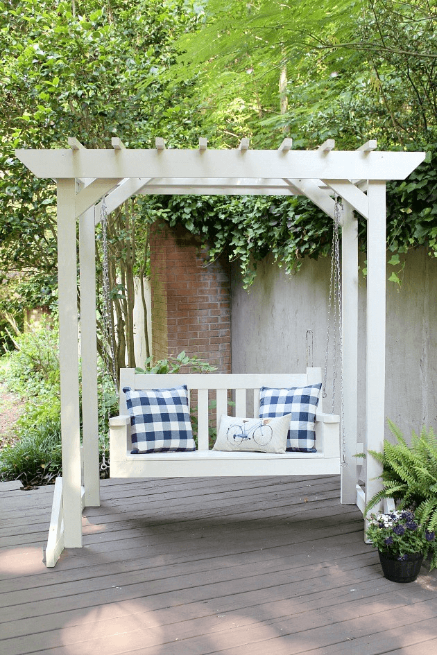 BEST PERGOLA PORCH SWING DESIGN IDEAS