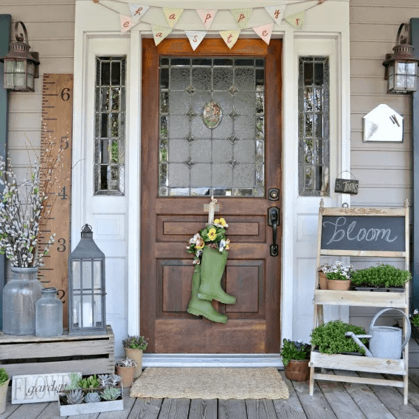 FARMHOUSE COTTAGE PORCH DESIGN IN THE OAKS SPRING HOME