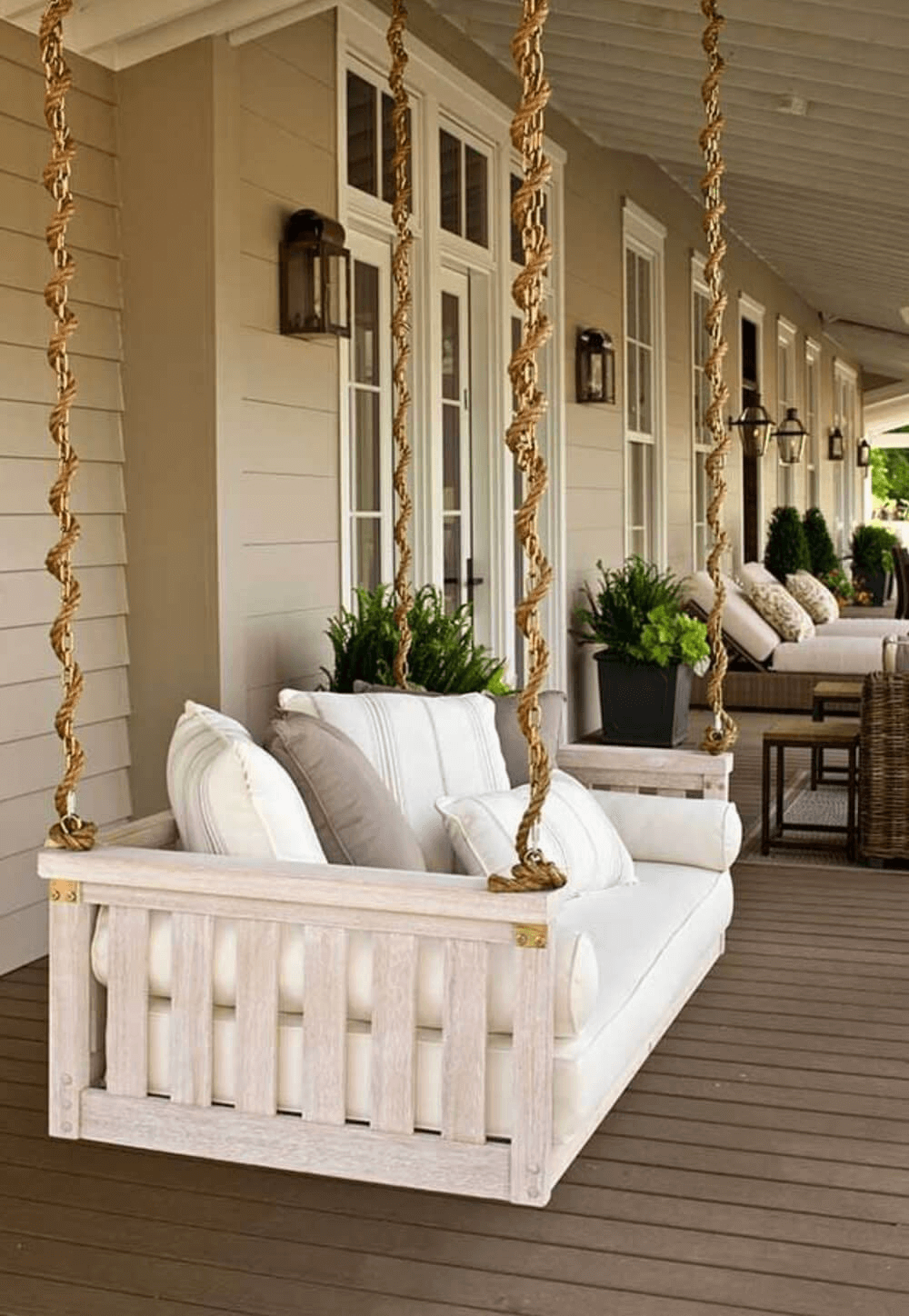 FARMHOUSE PORCH DESIGN IDEAS WITH SWING