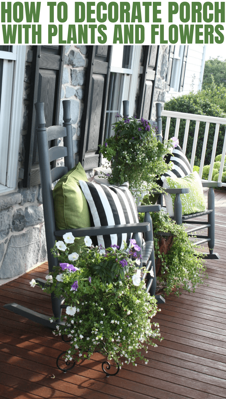HOW TO DECORATE PORCH WITH PLANTS AND FLOWERS