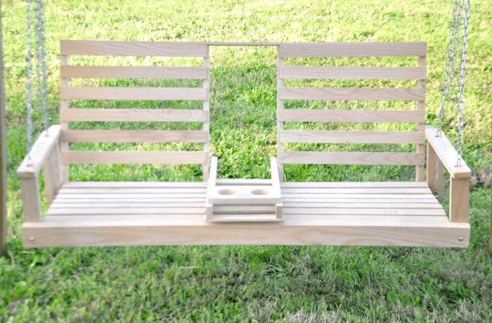 ONE OF BEST DESIGN IDEAS, PORCH SWING WITH CUP HOLDER