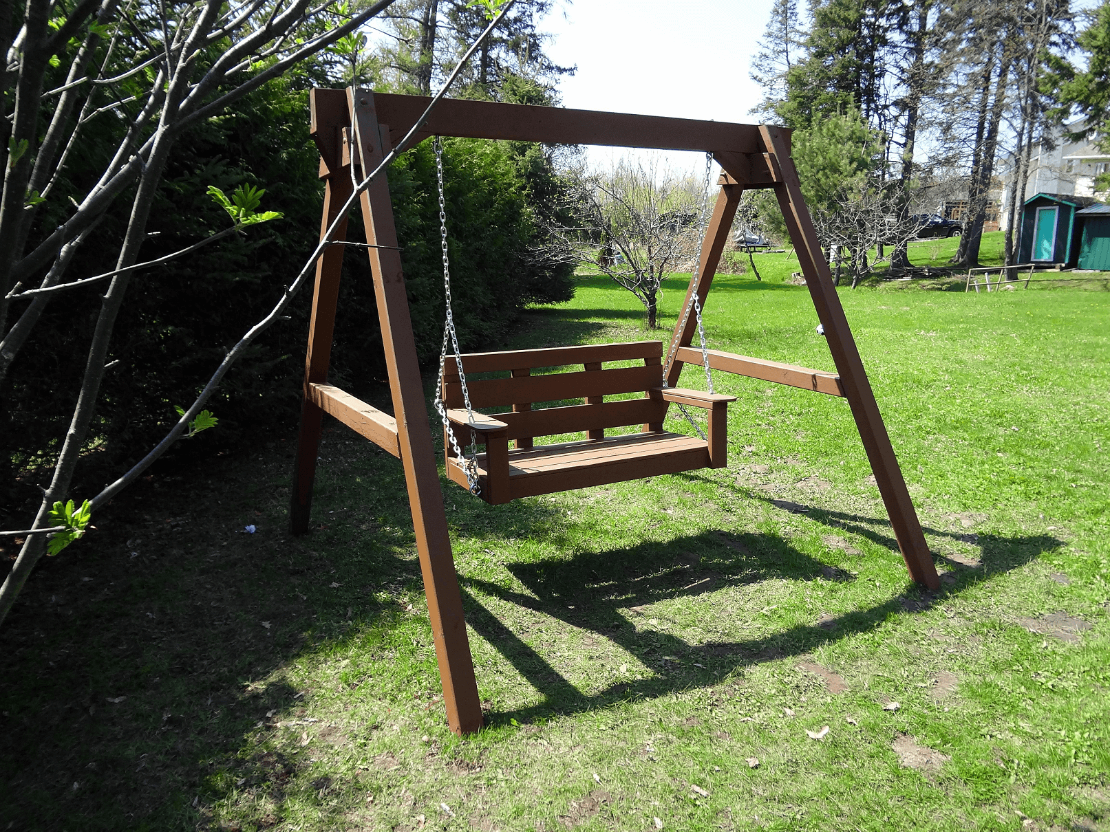 ONE OF BEST PORCH SWING DESIGN IDEAS, FRAME PORCH SWING