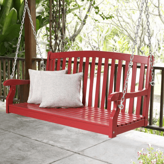 RED PORCH SWING DESIGN IDEAS. THE BEST OTHER HERE