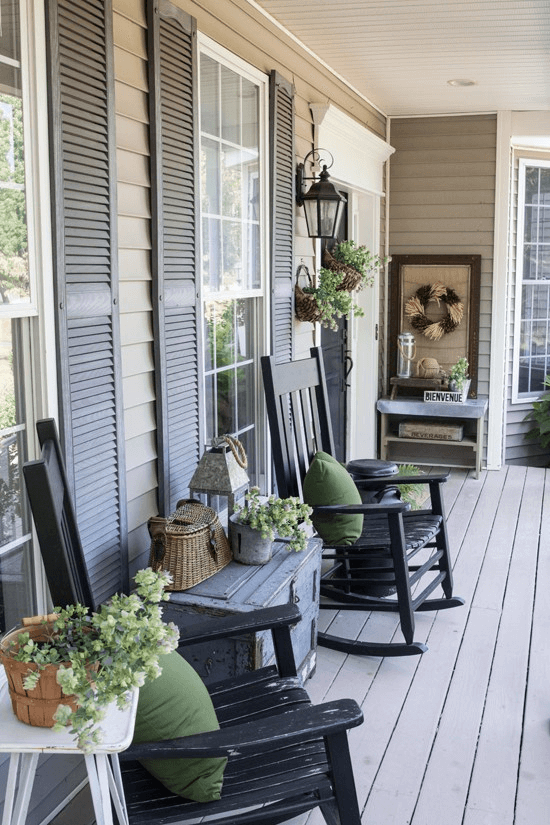ROCKING CHAIR FARMHOUSE PORCH DECOR IDEAS
