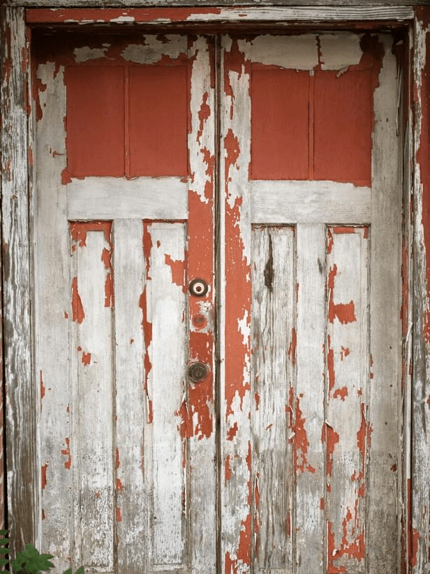 WEATHERED WOODEN DOOR SHABBY CHIC PORCH DECOR IDEAS
