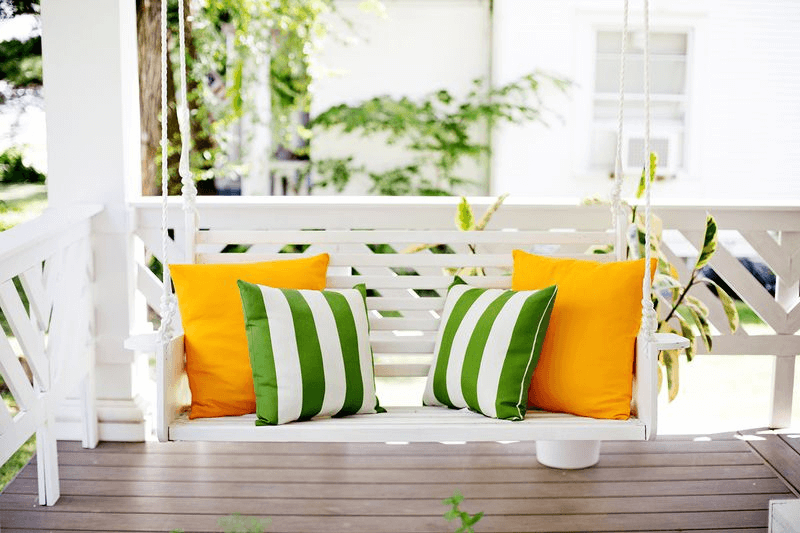 WHITE PORCH SWING COLOR IDEAS. GET MORE BEST SWING DESIGN HERE