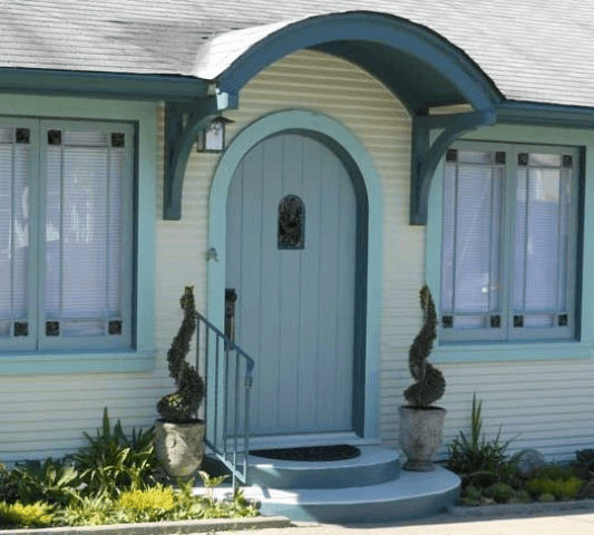 ARCHED DOOR SMALL PORCH DESIGN IDEAS