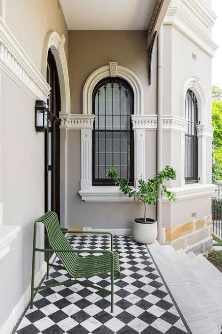 CHECKERBOARD SMALL PORCH DESIGN IDEAS