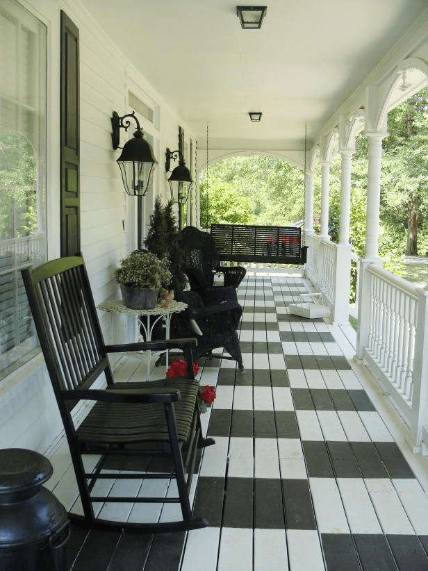 CHESS BOARD DESIGN IDEAS FOR COVERED PORCH