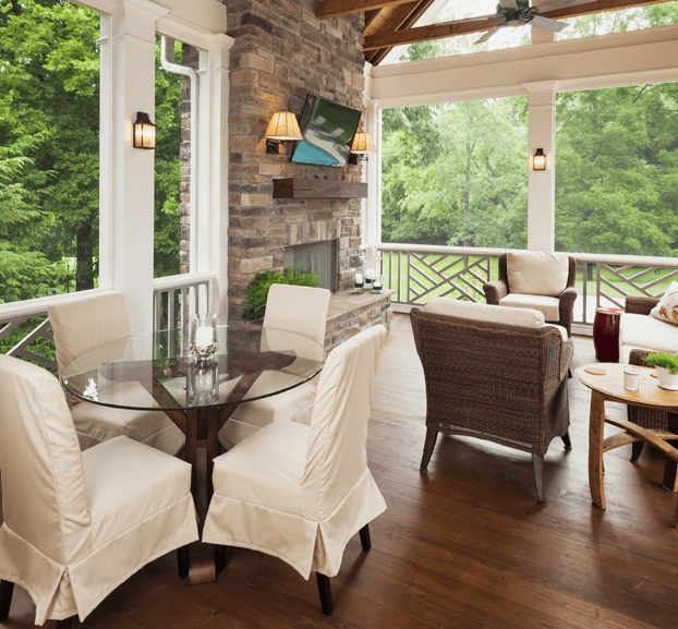 CYPRESS FLOORING OPTION FOR SCREENED PORCH