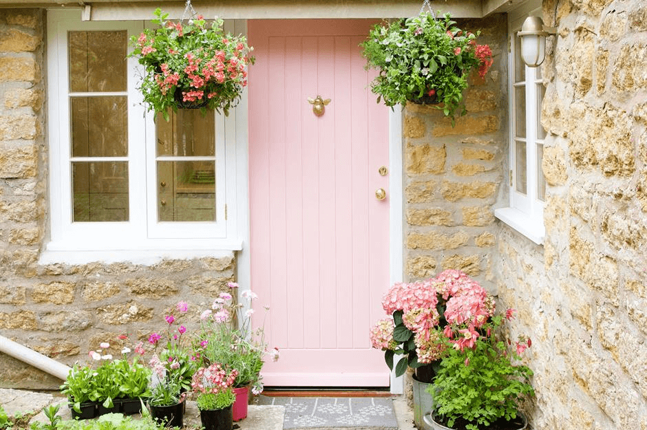 FRESH LIGHT BASKETS PLANT FLOWER DOOR PORCH DECOR IDEAS