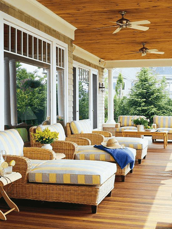 GOOD DESIGN IDEAS COUNTRY PEACH FOR COVERED PORCH