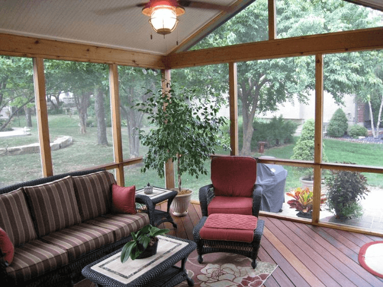 IPE WOODEN FLOORING OPTION FOR SCREENED PORCH