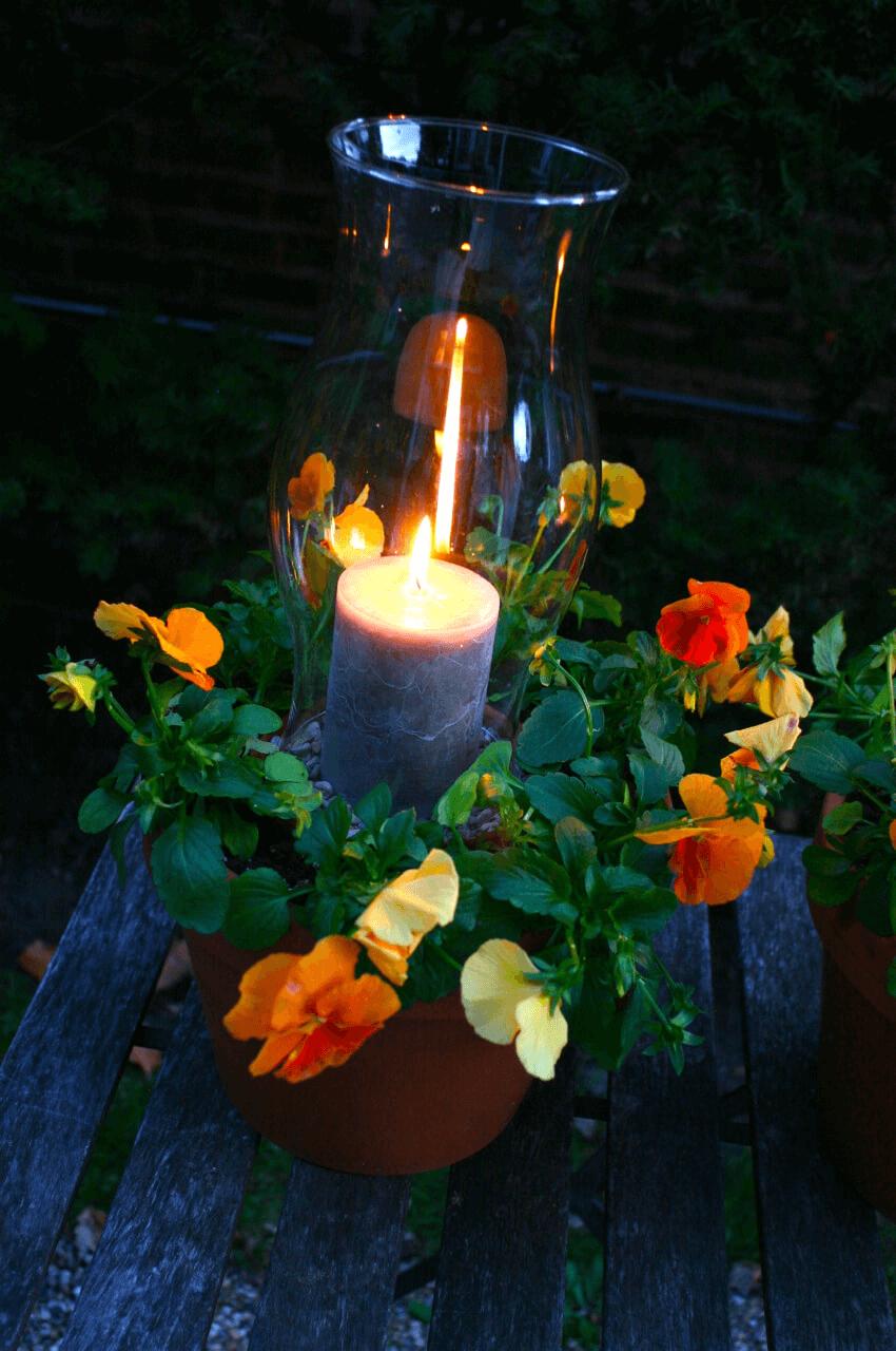 LANTERN POT FLOWER PORCH LIGHTING DESIGN IDEAS
