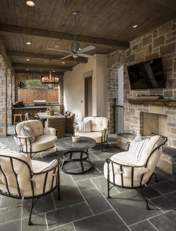 MEDIEVAL CHARM DESIGN IDEAS FOR COVERED PORCH