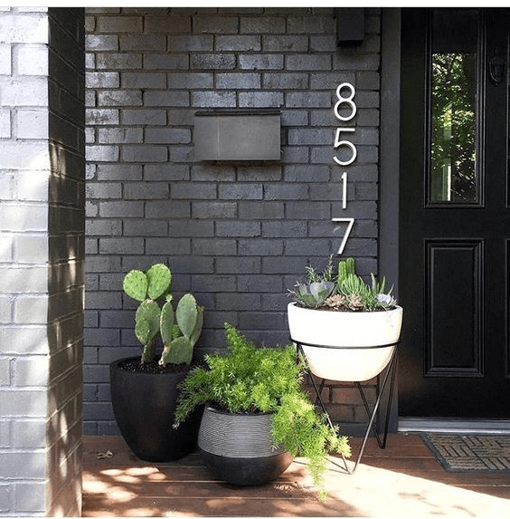 MODERN DESERT DOOR PORCH DECOR IDEAS