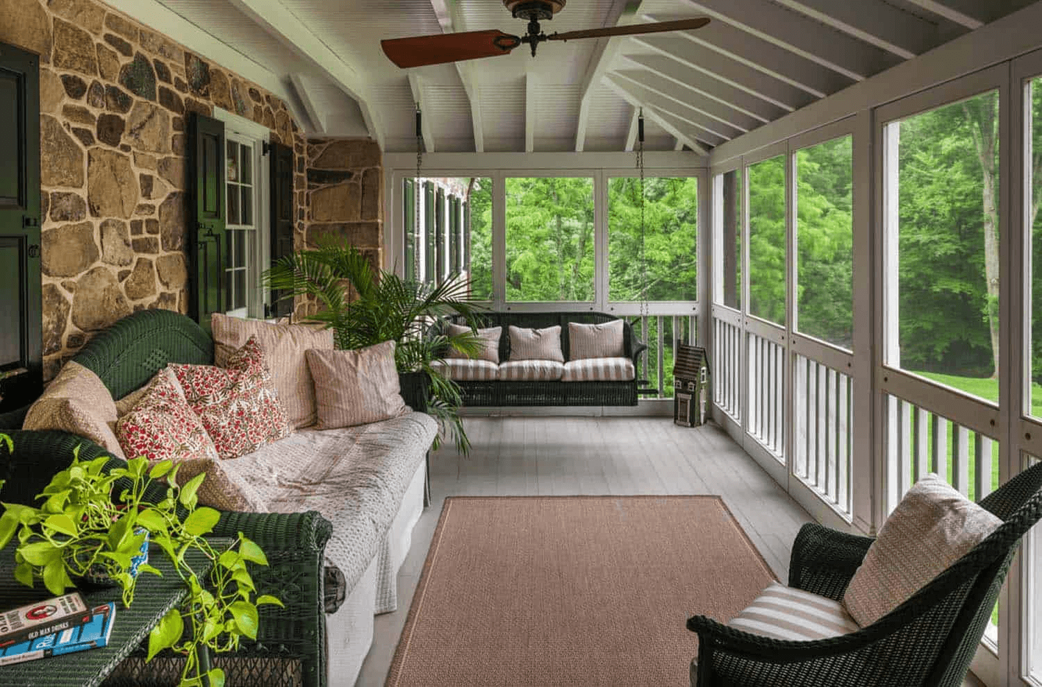 PAINTED MAHOGANY FLOORING OPTION FOR SCREENED PORCH