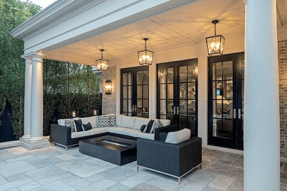 PARTIAL OUTDOOR DESIGN IDEAS FOR COVERED PORCH