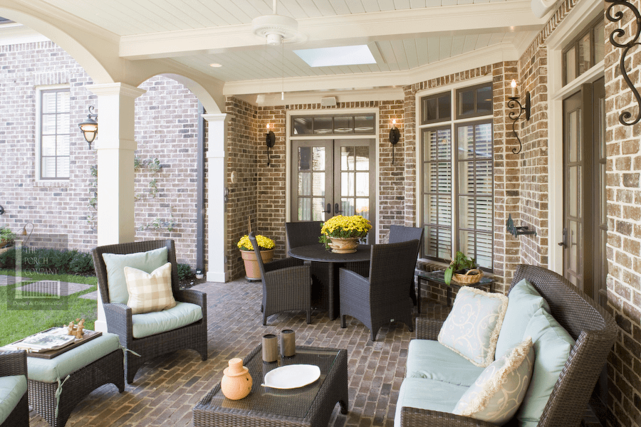 PAVER WITH MORTAR JOINTS BRICK FLOORING OPTION FOR SCREENED PORCH