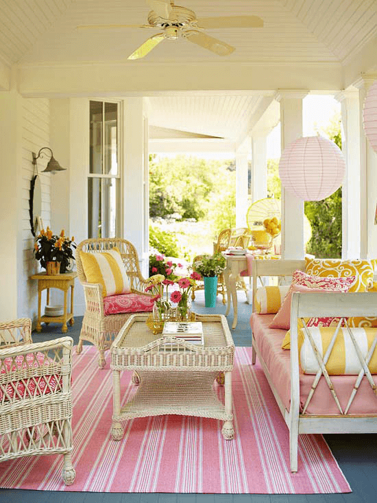 PINK PARTY DESIGN IDEAS FOR COVERED PORCH