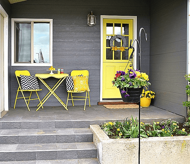 PORCH MAKEOVER AFTER POLISHED CHARM IDEAS