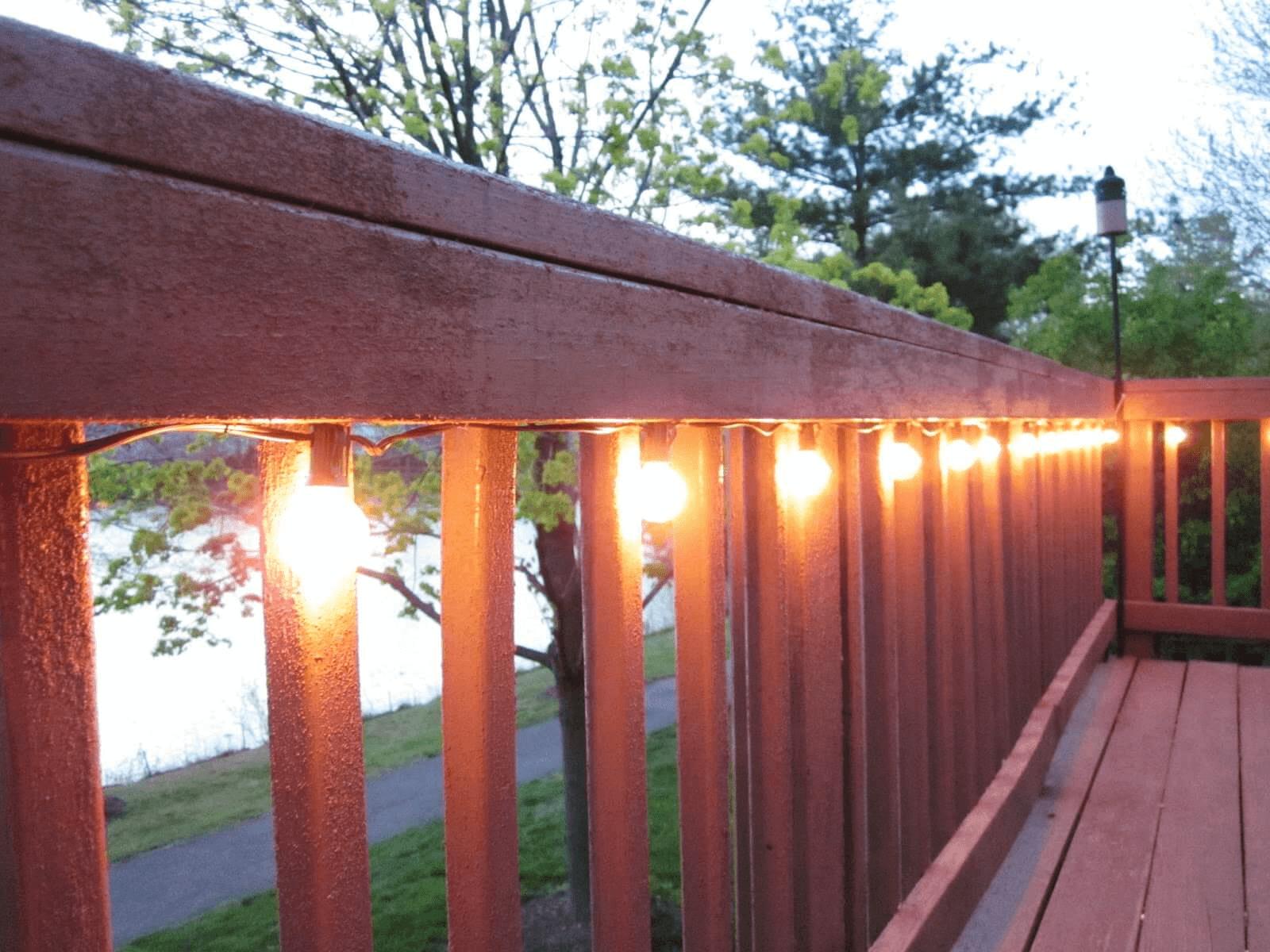 RAILING PORCH LIGHTING DESIGN IDEAS