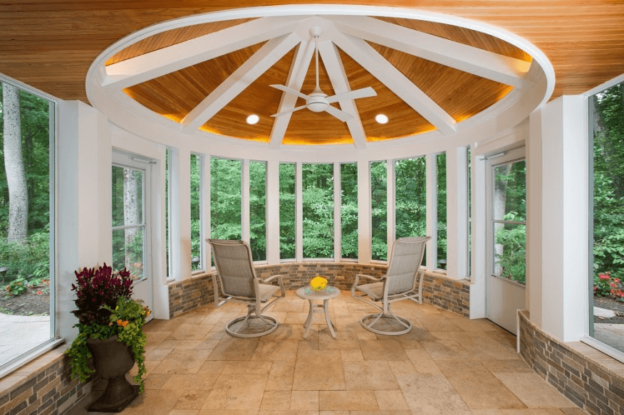 TRAVERTINE PAVER OPTION FOR SCREENED PORCH FLOORING IDEAS