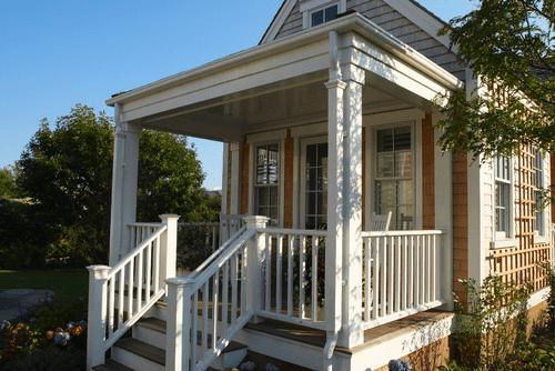 VICTORIAN BALLUSTRADE PORCH DESIGN IDEAS FOR TINY OR SMALL HOUSE