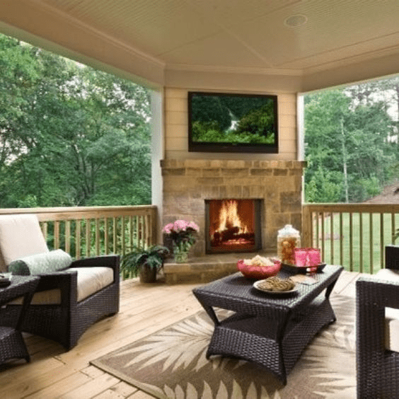 WARM AFTERNOON COVERED PORCH DESIGN IDEAS