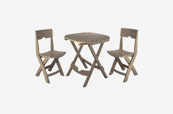 ADAMS MANUFACTURING QUICK-FOLD CAFE SET FOR PORCH PATIO