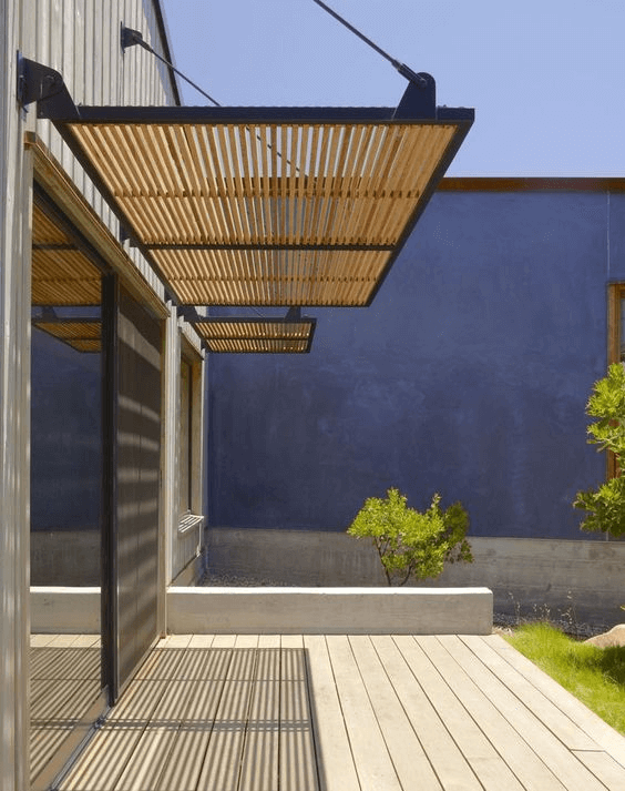 BLIND CURTAIN EFFECT CANOPY PORCH DESIGN IDEAS