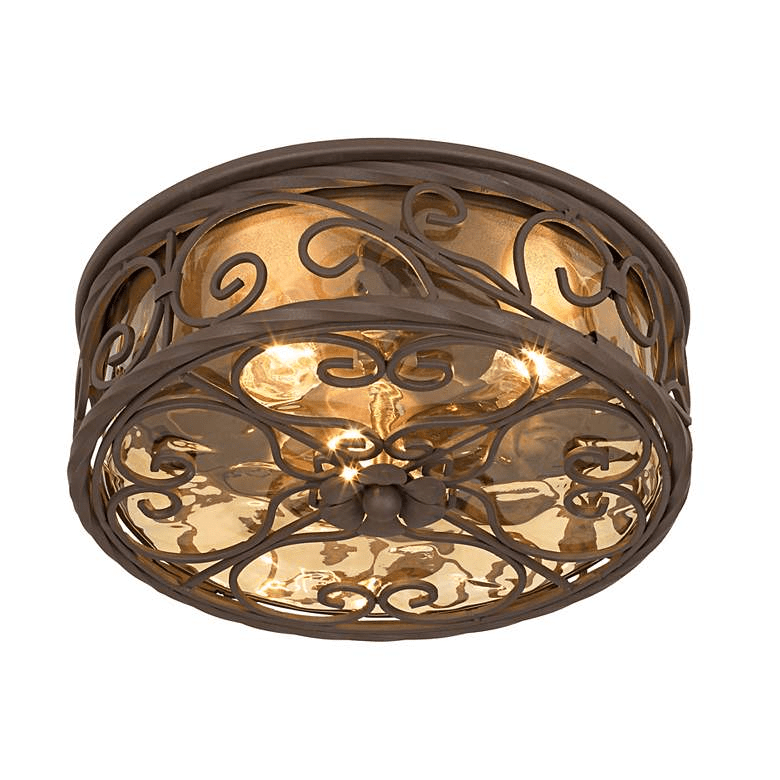 CASA SEVILLE WIDE WALNUT PORCH CEILING LIGHT FIXTURES