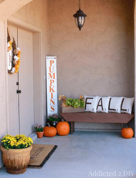 DIY FALL PILLOWCASES FOR FALL AND WINTER PORCH DECOR IDEAS