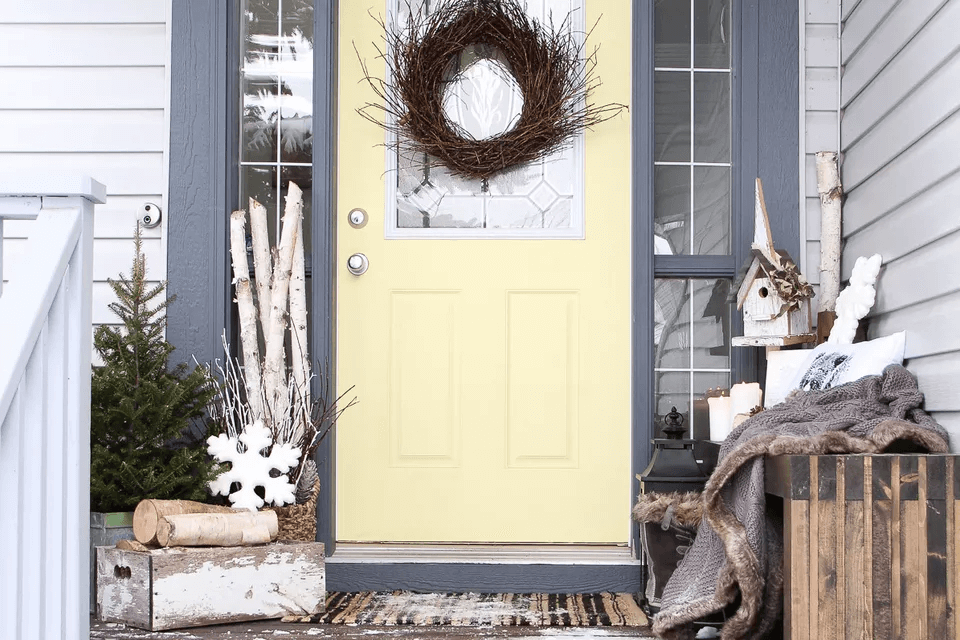 DIY FRONT DOOR PORCH DECOR IDEAS FOR FALL AND WINTER