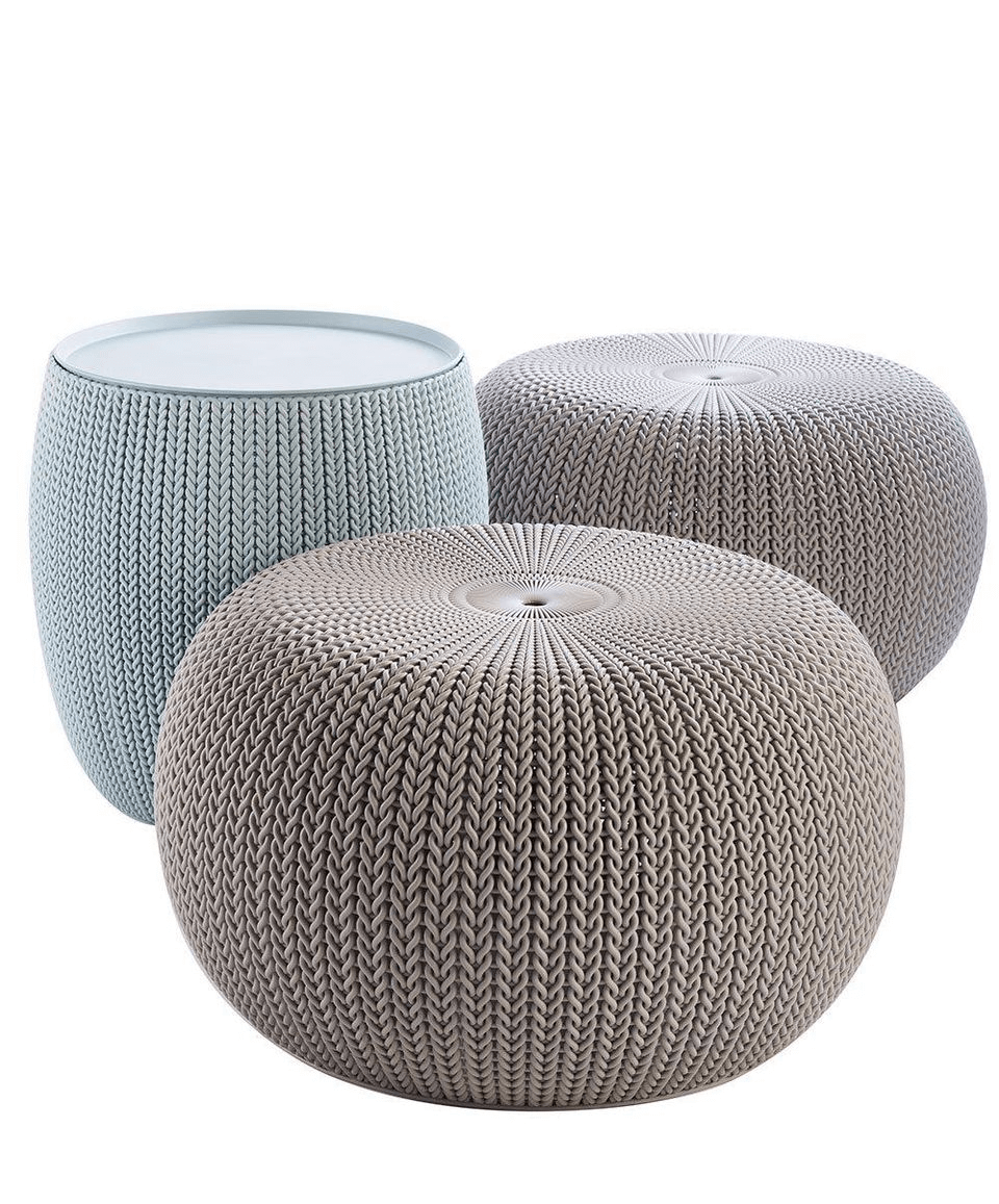 KNIT FURNITURE SET FOR PATIO