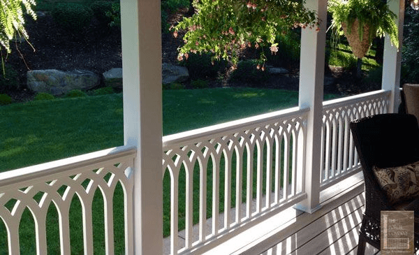 MOST POPULAR PORCH RAILING MATERIAL WITH VINYL
