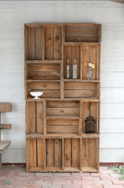 NICE PORCH STORAGE IDEAS WITH DIY WOOD PALLET CABINET